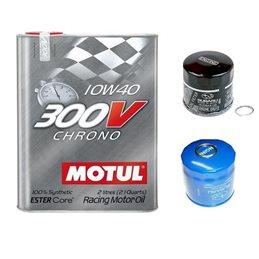 *Pack* Vidange moteur MOTUL 300V 10W40 - Bidon 2L
