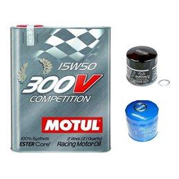*Pack* Vidange moteur MOTUL 300V 15W50 - Bidon 2L