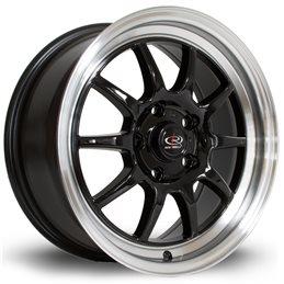 "Rota GT3 16x7"" 5x114.3 ET40, Noir, Rebord Poli"