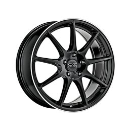"OZ Veloce GT 17x7.5"" 5x100 ET35, Noir Brillant, Rebord Poli"