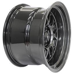 """7Twenty Style44 15x9"""" 4x100 ET0, Hyper Black"""