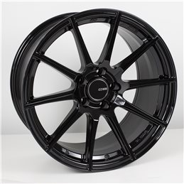 TS10 17x8 45 5x100 72.6, Noir Brillant