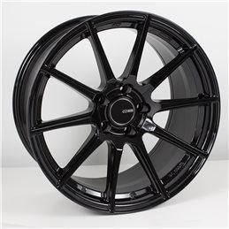 TS10 18x10.5 25 5x114.3, Noir Brillant