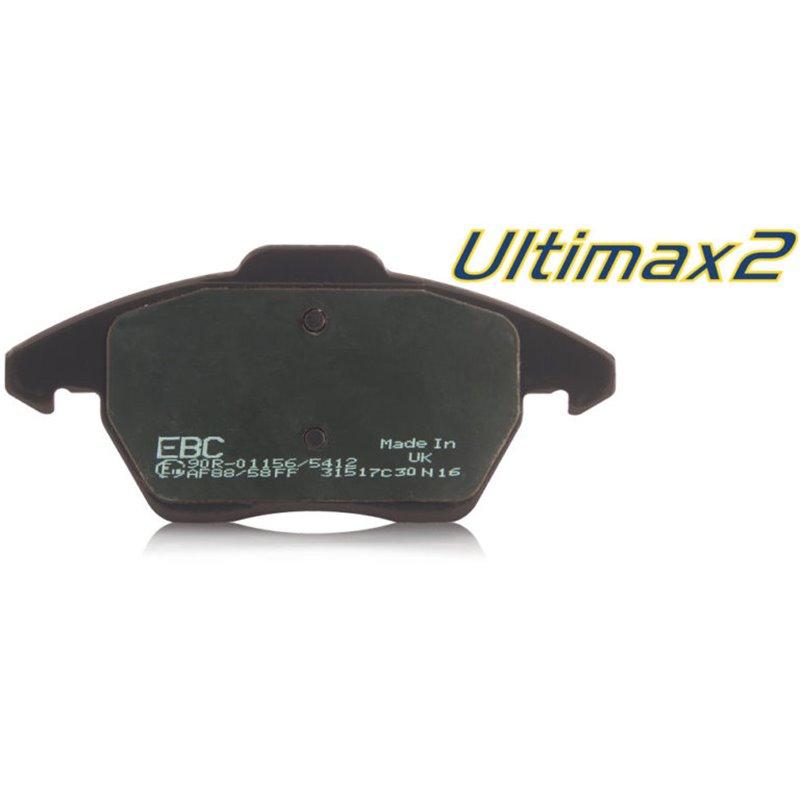 Plaquettes de Frein Avant EBC Ultimax Supra 3.0 Twin Turbo 16 pouces (MK4 JDM) de 1993 à 2002 (DP1223)