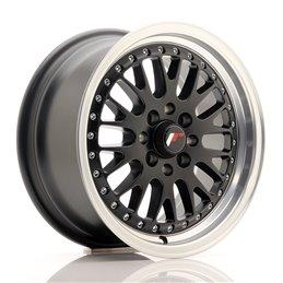 JR Wheels JR10 15x7 ET30 4x100/108 Noir Mat / Bord Poli