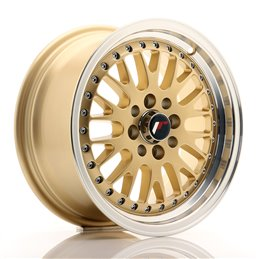JR Wheels JR10 15x7 ET30 4x100/108 Or / Bord Poli