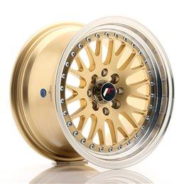 JR Wheels JR10 15x8 ET15 4x100/114.3 Or / Bord Poli