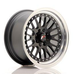 JR Wheels JR10 15x8 ET20 4x100/108 Noir Mat / Bord Poli