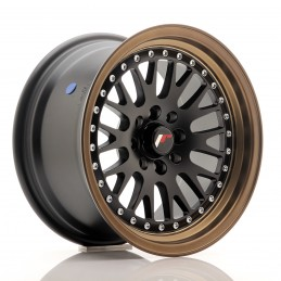 JR Wheels JR10 15x8 ET20 4x100/108 Noir Mat / Bord Bronze Anodisé