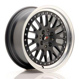 JR Wheels JR10 16x7 ET30 4x100/108 Noir Mat / Bord Poli