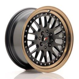 JR Wheels JR10 16x7 ET30 4x100/108 Noir Mat / Bord Bronze Anodisé