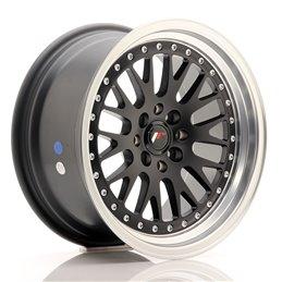 JR Wheels JR10 16x8 ET20 4x100/108 Noir Mat / Bord Poli