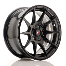 JR Wheels JR11 15x7 ET30 4x100/108 Noir Brillant