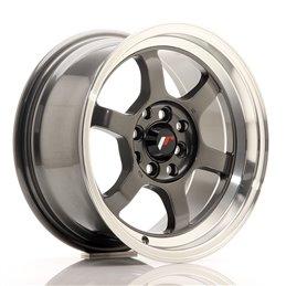 JR Wheels JR12 15x7.5 ET26 4x100/108 Gun Metal / Bord Poli