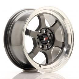 JR Wheels JR12 15x7.5 ET26 4x100/114.3 Gun Metal / Bord Poli