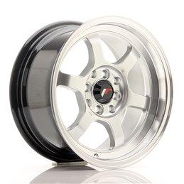JR Wheels JR12 15x7.5 ET26 4x100/114.3 Hyper Silver / Bord Poli