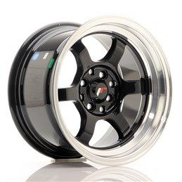 JR Wheels JR12 15x8.5 ET13 4x100/114.3 Noir Brillant / Bord Poli