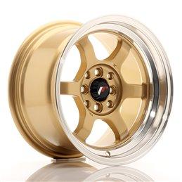 JR Wheels JR12 15x8.5 ET13 4x100/114.3 Or / Bord Poli