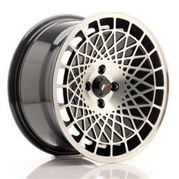 JR Wheels JR14 16x8 ET25 4x100 Noir Brillant Face Polie