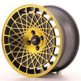 JR Wheels JR14 16x8 ET20 5x100 Noir Mat Finition Or