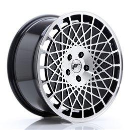 JR Wheels JR14 18x8.5 ET40 5x114.3 Noir Brillant Face Polie