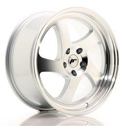 JR Wheels JR15 18x8.5 ET40 5x112 Argent Face Polie