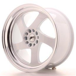 JR Wheels JR15 18x9.5 ET40 5x112/114.3 Blanc / Bord Poli