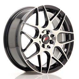 JR Wheels JR18 17x7 ET40 4x100/114.3 Noir Brillant Face Polie