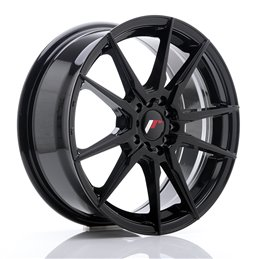 JR Wheels JR21 17x7 ET40 5x100/114.3 Noir Brillant