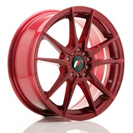 JR Wheels JR21 17x7 ET40 5x100/114.3 Rouge Platine