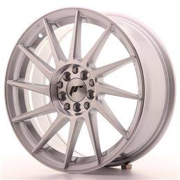 JR Wheels JR22 17x7 ET35 4x100/114.3 Argent Face Polie