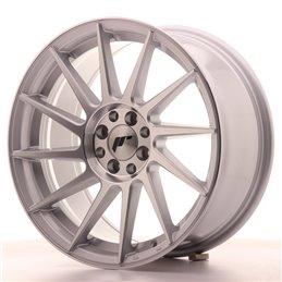 JR Wheels JR22 17x8 ET35 4x100/114.3 Argent Face Polie