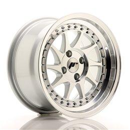 JR Wheels JR26 15x8 ET5 4x100 Argent Face Polie
