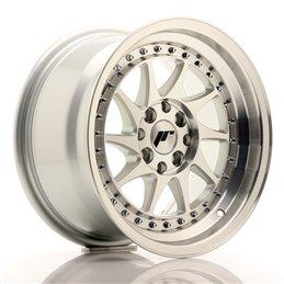 JR Wheels JR26 15x8 ET25 4x100/108 Argent Face Polie