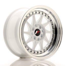 JR Wheels JR26 15x8 ET25 4x100/108 Blanc / Bord Poli