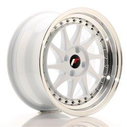 JR Wheels JR26 16x8 ET30 4x100 Blanc / Bord Poli