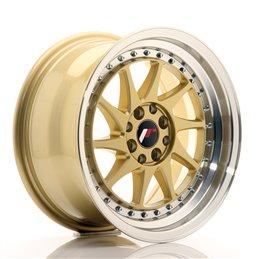 JR Wheels JR26 16x8 ET25 4x100/108 Or / Bord Poli