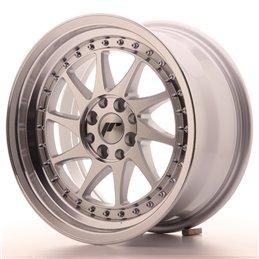 JR Wheels JR26 16x8 ET25 4x100/108 Argent Face Polie