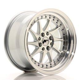 JR Wheels JR26 16x9 ET20 4x100/108 Argent Face Polie