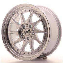 JR Wheels JR26 17x8 ET35 4x100/114.3 Argent Face Polie