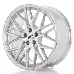JR Wheels JR28 17x8 ET40 5x114.3 Argent Face Polie
