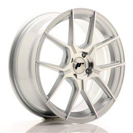 JR Wheels JR30 17x7 ET40 4x100 Argent Face Polie