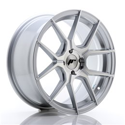 JR Wheels JR30 17x8 ET40 4x100 Argent Face Polie