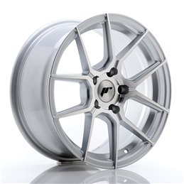 JR Wheels JR30 17x8 ET35 5x120 Argent Face Polie