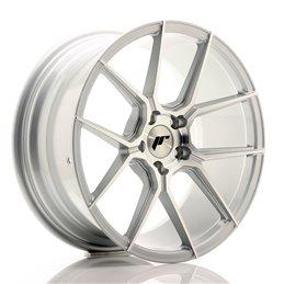 JR Wheels JR30 18x8.5 ET35 5x120 Argent Face Polie