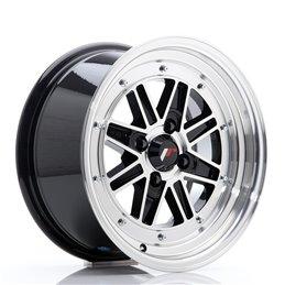 JR Wheels JR31 15x7.5 ET20 4x100 Noir Brillant Face Polie