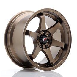 JR Wheels JR3 15x8 ET25 4x100/108 Anodized Bronze