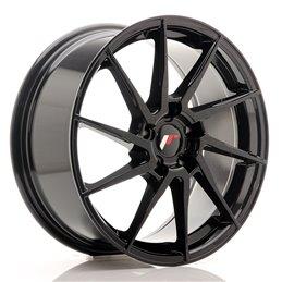 JR Wheels JR36 18x8 ET45 5x112 Noir Brillant