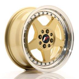 JR Wheels JR6 15x7 ET35 4x100/114.3 Or / Bord Poli