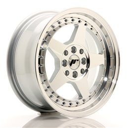JR Wheels JR6 15x7 ET35 4x100/114.3 Argent Face Polie